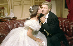 Claudia Cardinale y Burt Lancaster en El gatopardo