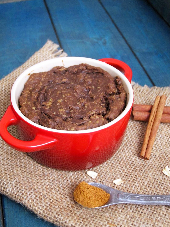 The Oatmeal Artist: Spiced Brownie Baked Oatmeal