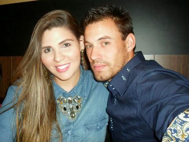 Rafael Nunes com a sua namorada