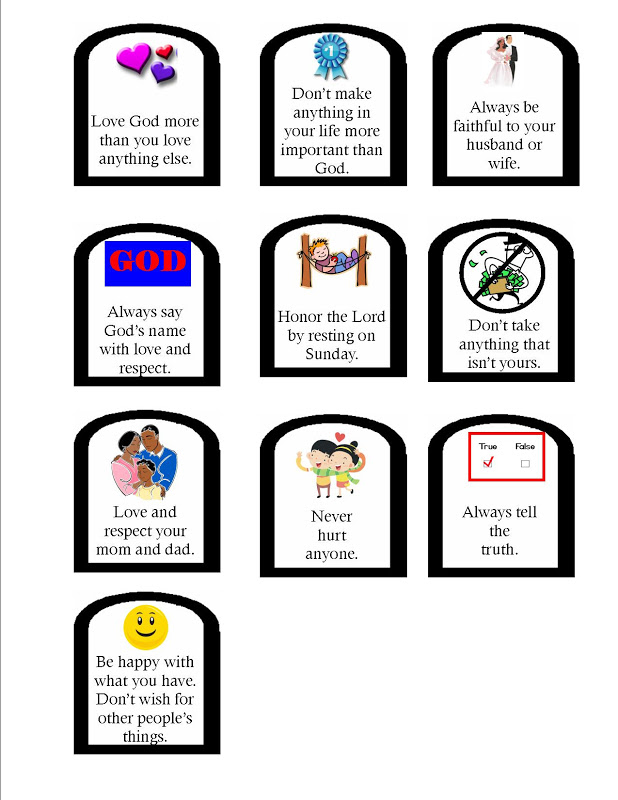 ten commandments craft ideas for kids