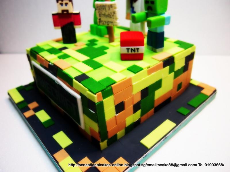 The Sensational Cakes Minecraft Cake Singapore 3d Minecraft