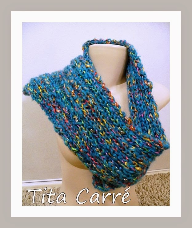 Cachecol de lã Turca em Tricot