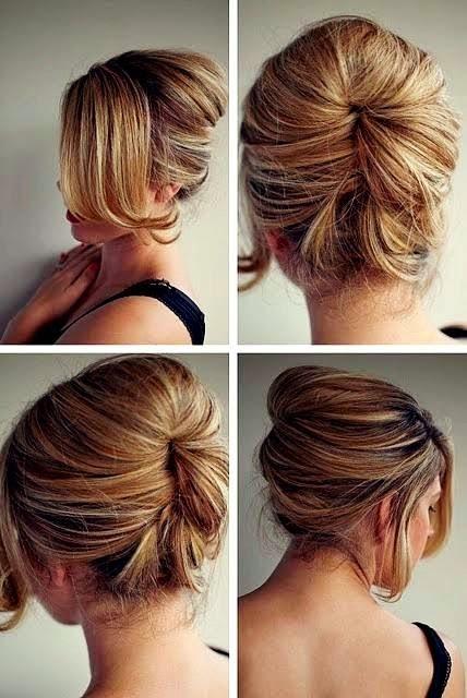 Cara mengikat rambut panjang pendek dan gelombang simple cantik