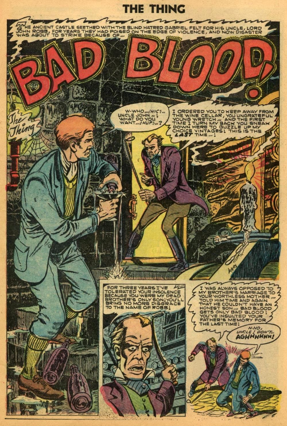 The Thing 17 'Bad Blood'--signed Dick Ayers