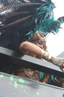 Rhianna at Crop Over in Barbados