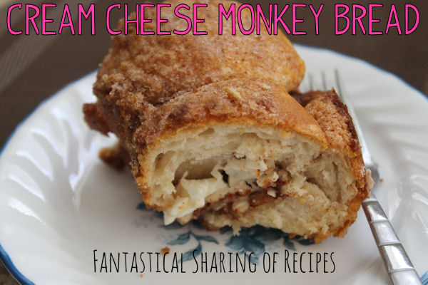 Cream Cheese Monkey Bread | An amazing variation from the classic cinnamon-sugar treat #recipe