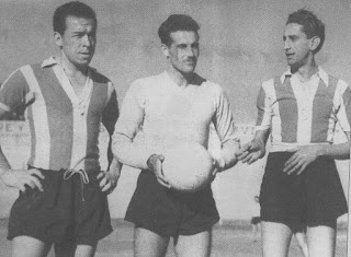 Gándola junto a José Ayala y Néstor Nanzer, en 1957.