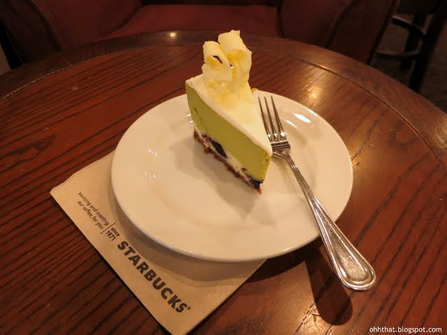 Starbucks Green Tea and Berry Cheesecake, cake