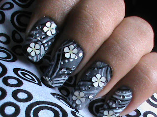Easy nail designs with FIMO flower nail art- Fimo Canes nail art design Tutorial Video for beginners tips