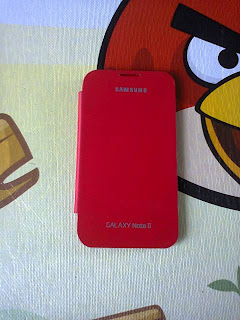 Leather Case Flip Cover Samsung Galaxy Note II GT N7100 Red