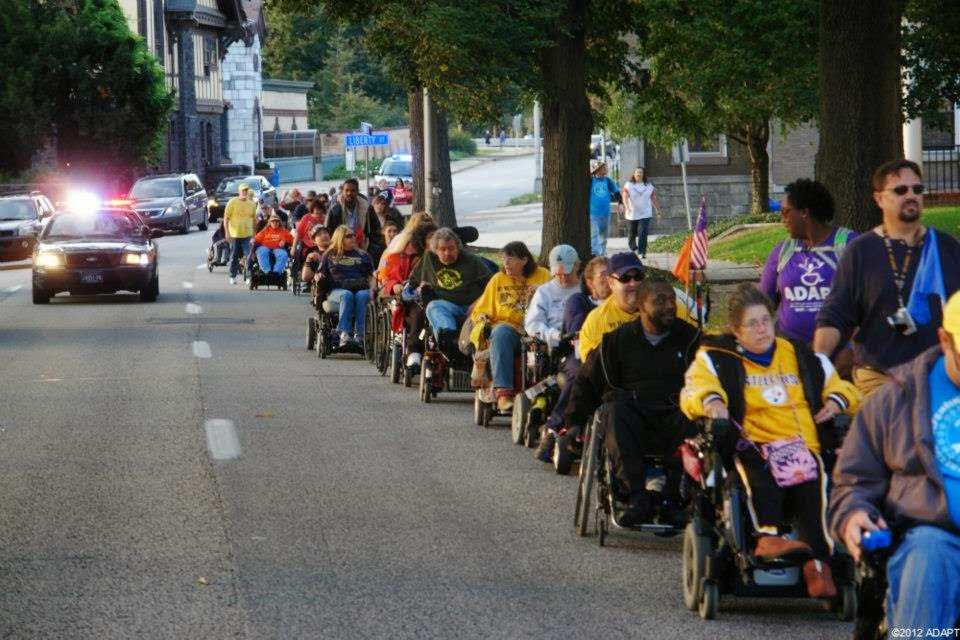 ADAPT marches in Harrisburg PA