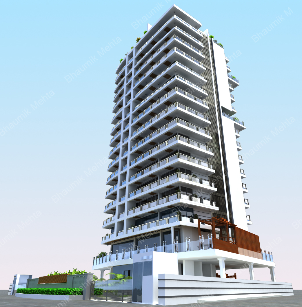 Bhaumik mehta 39 s 3d creations highrise building project for 3d house builder