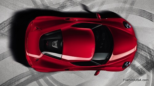 Alfa Romeo 4C top view