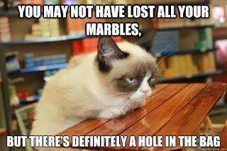 tard, grumpy cat lost marbles