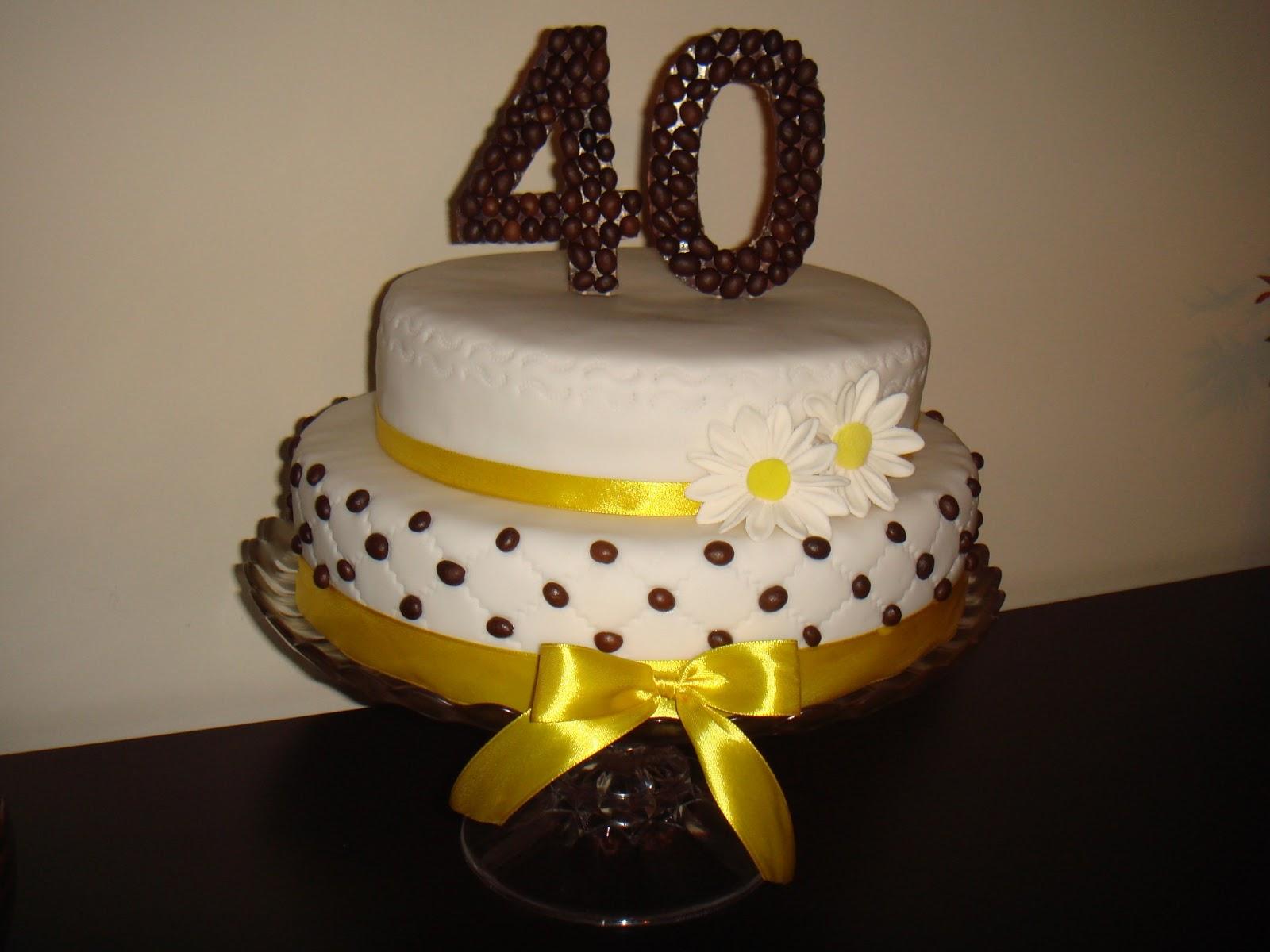 Bolo de Aniversario 40 Anos Feminino Bolo de Aniversário Dos 40