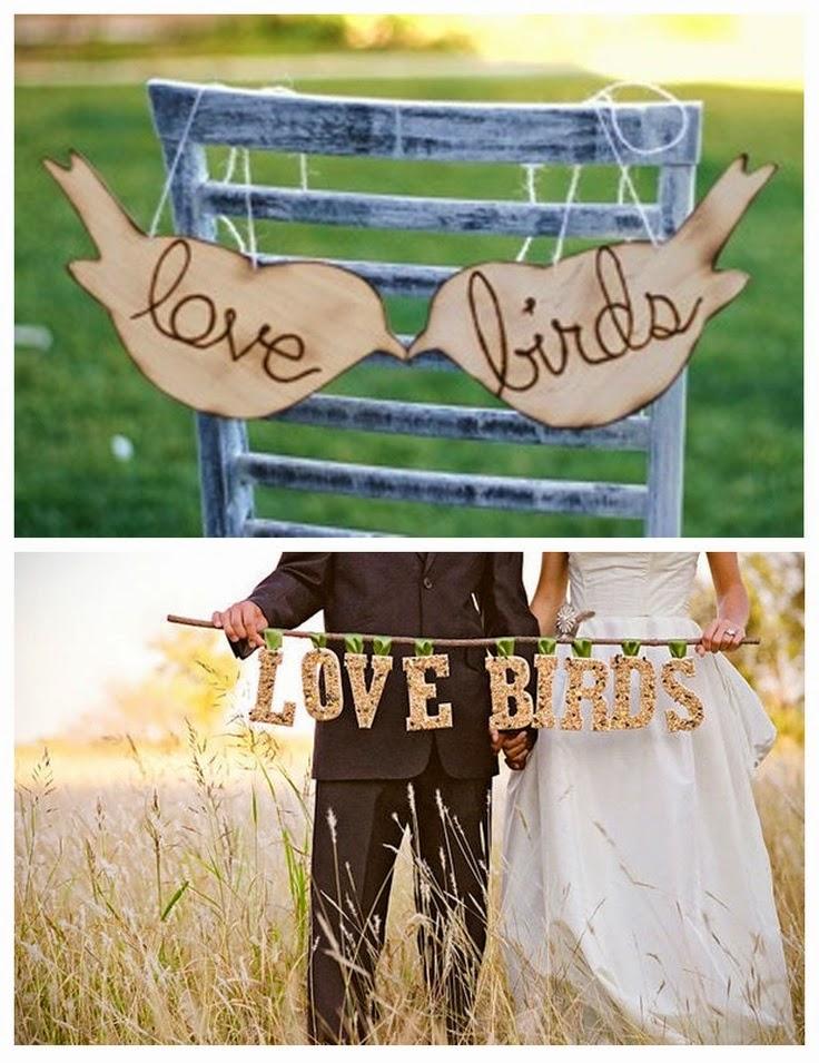 Nothing Says I Love You Like A Love Bird Wedding Theme Wedding