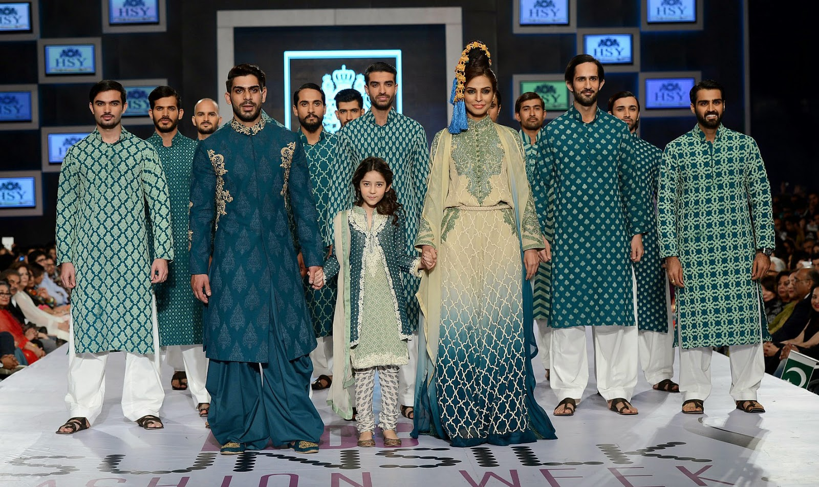 HSY Sher collection PFDC Sunsilk Fashion Week 2014