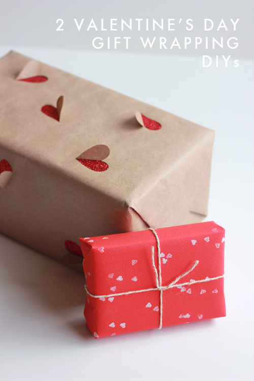 2 simple valentine 39 s day gift wrapping ideas the house - Emballage cadeau saint valentin ...