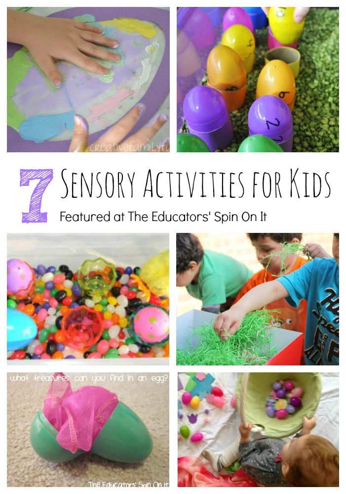 7 Sensory Activities for Easter, Exploring your senses. These would make great stations for an Easter Playdate.