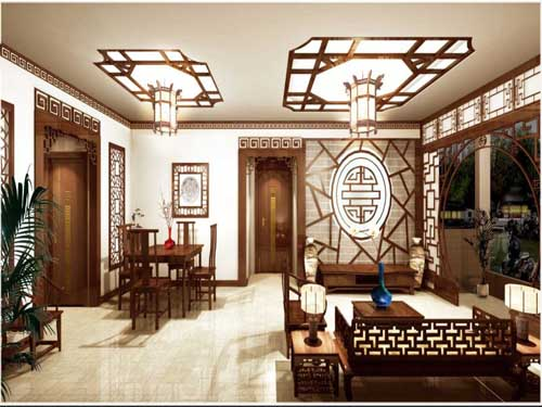 Home Oriental: Single Floor House Plan and Elevation - 1270 Sq. Ft
