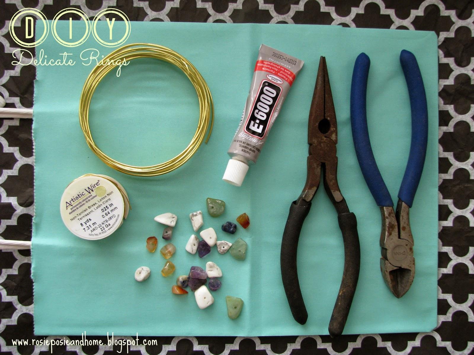 Rosie Posie & Home.: DIY Delicate Rings