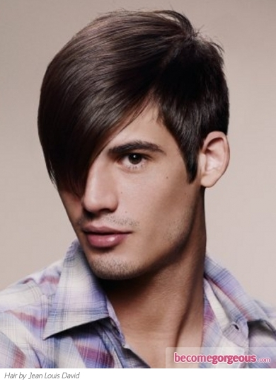 alternative mens hairstyles. long bangs men hair style