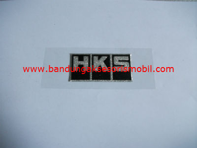 Emblem Metalic Small HKS Hitam