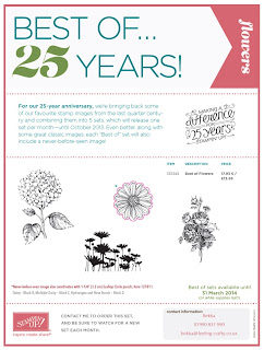 Best of Flowers Stamp Set Celebrating 25 years / anniveresary from Stampin' Up!  Order Yours Here