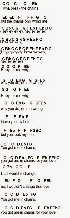 Flute Sheet Music Chains