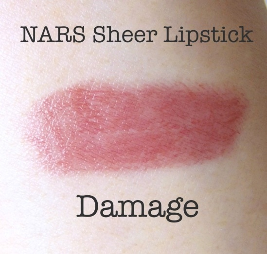 NARS Sheer Lipstick Damage Swatch