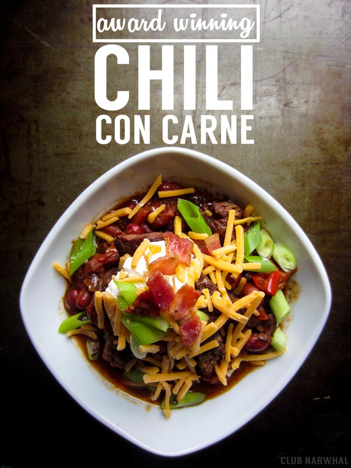 Award Winning Chili Con Carne