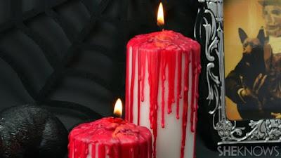 Decoración Halloween: Como hacer velas sangrientas