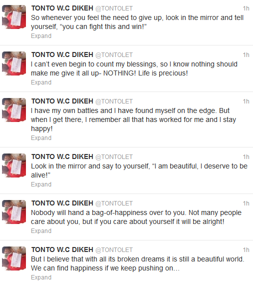 Tonto Dikeh Reaches Out To People Attempting Suicide