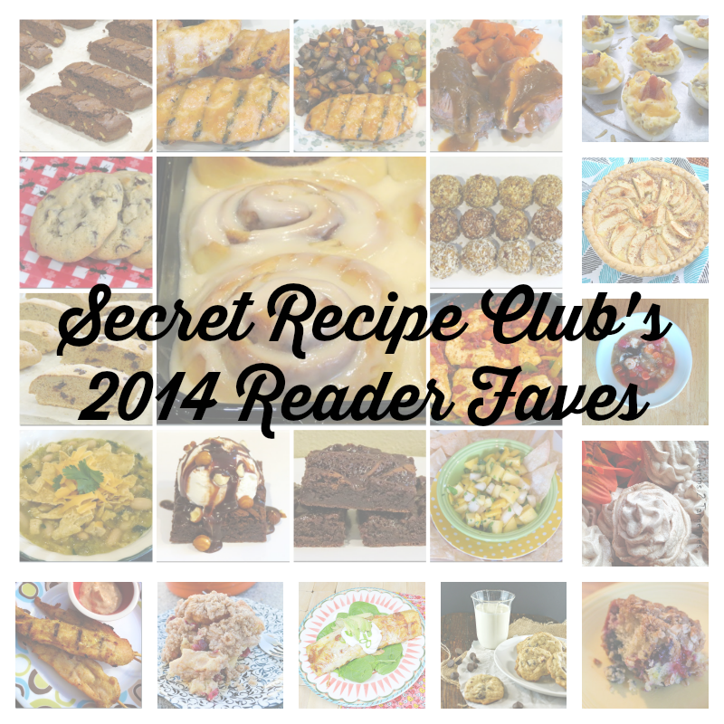 It's been a very eventful year for the Secret Recipe Club - and we're wrapping up by sharing the most viewed recipes from 2014 with our Reader Faves! #recipes #Countdownto2015 #favorite