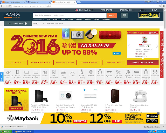 Lazada Chinese New Year Red Hot Sale 2016