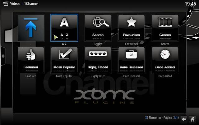 Plugin 1Channel XBMC