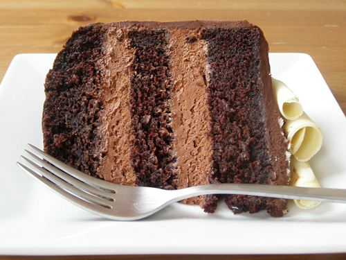 Vegan Double Chocolate Mousse Cake