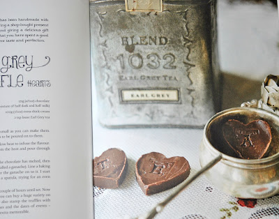 Earl grey truffle hearts