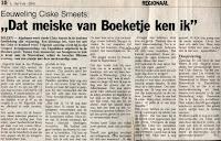 Levensverhaal van Ciske Smeets Het Volk: 28-07-1988