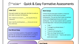 Beautiful Visual Featuring 7 Ways to Do Formative Assessments in Class
