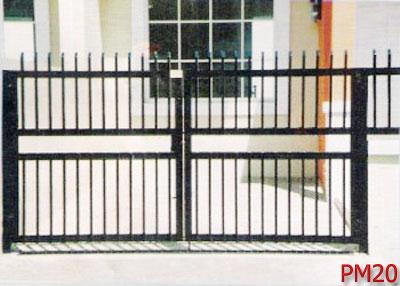 Berikut contoh model pagar besi minimalis :