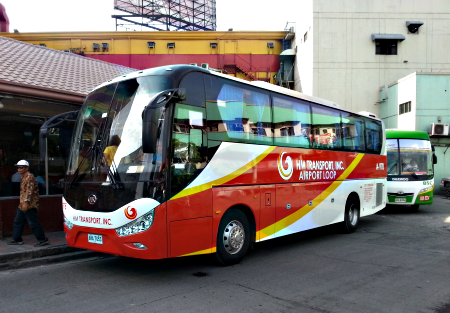 Airport Loop by HM Transport bound for NAIA-3 from Pasay Rotunda