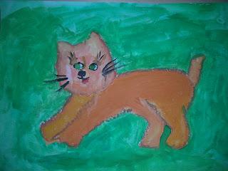 акварельный котенок