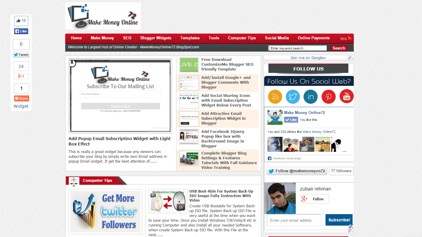 Top 12 Responsive SEO Friendly Blogger Templates Free Download ...