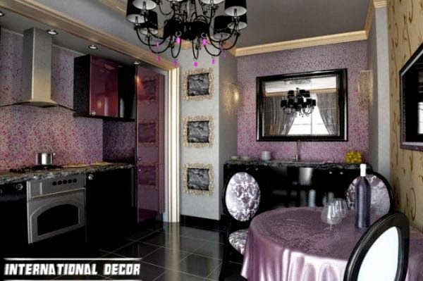 Art Deco kitchen designs and furniture, purple kitchen