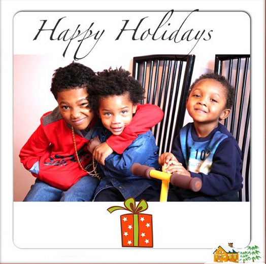 Yandy Smith, step-son and son celebrating Christmas