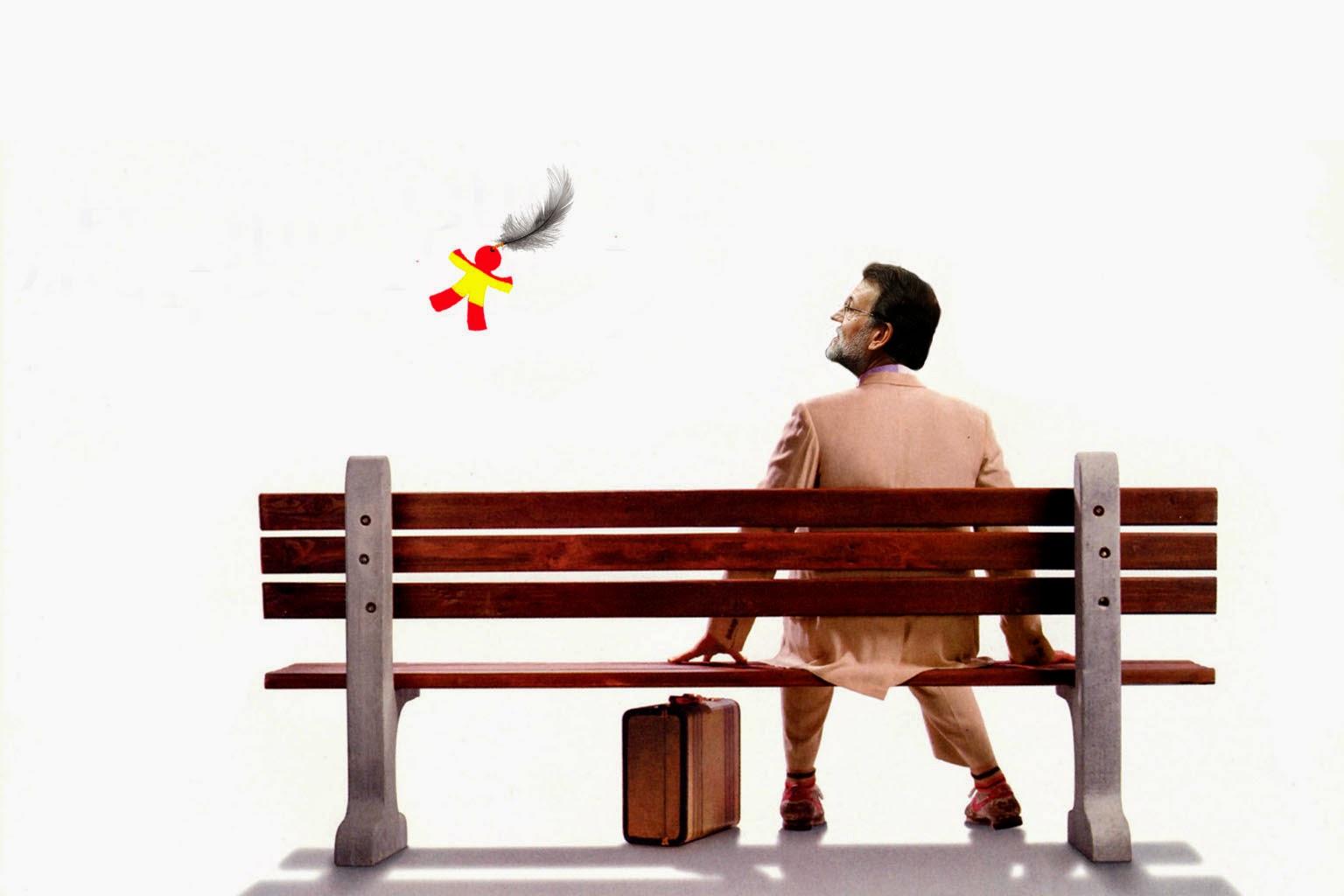 Rajoy en el banco esperando a Jenny