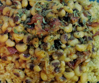 Black-eyed peas with chipotle & bacon
