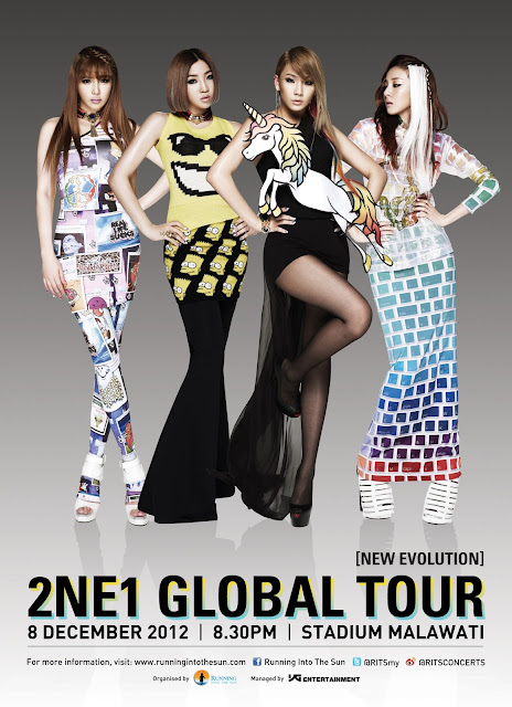 2NE1 Concert In Malaysia Global Tour Stadium Malawati 8 December 2012