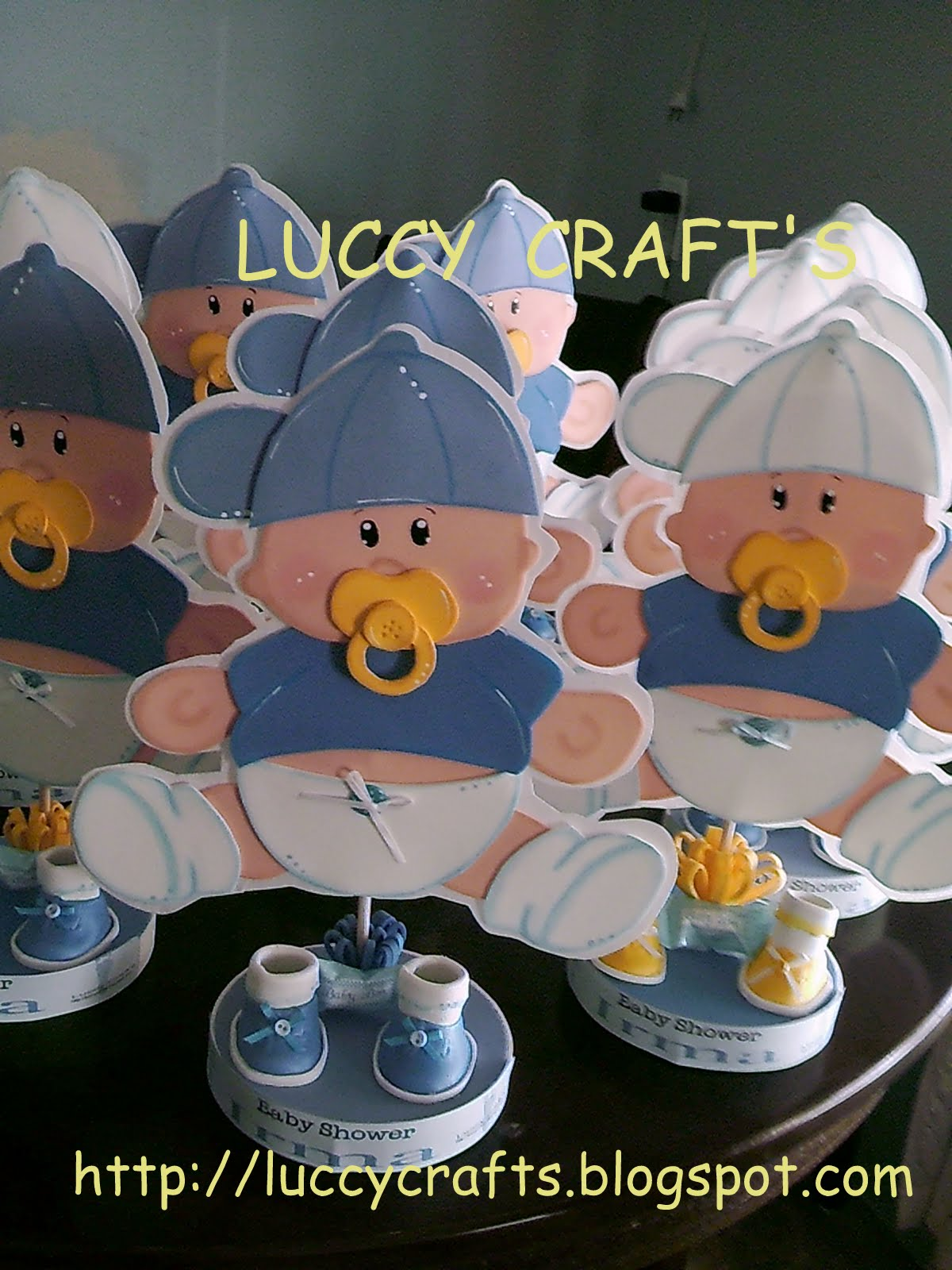 Luccy Craft s Centros de mesa para Baby Shower Its a boy